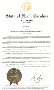 Governor Cooper proclaims Oct 8, 2020 Ombuds Day